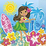 Hawaiian Beach Party Papier Servietten, 16 Stück