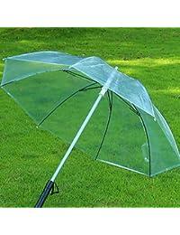 "ESHOO con paraguas, luz LED flash paraguas noche protección transparente paraguas con 7Color, pvc, transparente, Diameter: 105cm/41"""