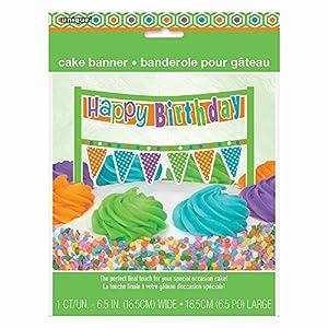 Torta de cumpleaños Feliz cumpleaños multicolor