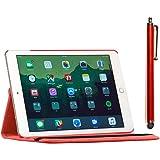 ebestStar - Cover Compatibile con iPad Air 2, iPad 6 Custodia Protezione Pelle PU con Supporto Rotazione 360, Rosso [Apparecc