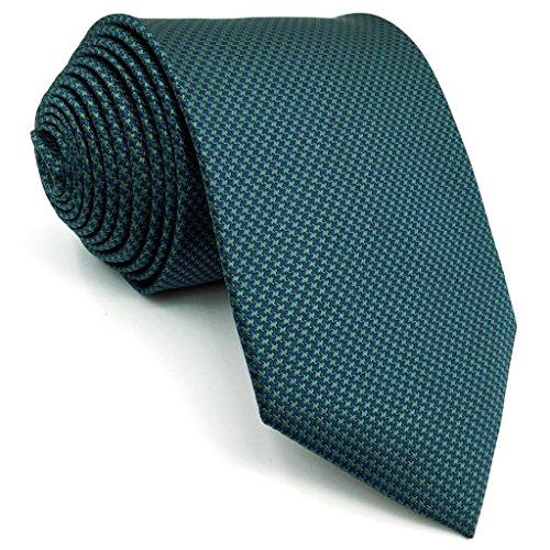 Shlax&Wing Neu Herren Seide Krawatte Klassisch Blau Einfarbig Extra lang 63