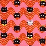 Pinke orange Welle Oxfordstoff Katzengesicht