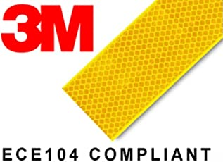 Tufkote 'Branded 3M' High Intensity Reflective Conspicuity Tape (4 Feet, Yellow)