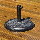 Kingfisher PBASE 9 kg Cast Iron Effect Parasol Base - Bronze