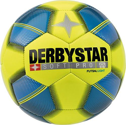 Derbystar Kinder Futsal Soft Pro Light, gelb blau schwarz, 4