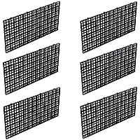 Wetrys 6 separadores para Tabla de Pescado con Rejilla aislada, Parte Inferior del depósito de Peces, Bandeja de Filtro Negra para Acuario