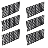Wetrys 6 Pcs Grid Isolieren Board Trennwand Fish Tank Unten Schwarz Filter Tablett Aquarium Box