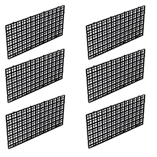 Wetrys 6 Pcs Grid Isolate Board Divider Fish Tank Bottom Black Filter Tray Aquarium Crate 18