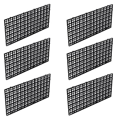 Wetrys 6 Pcs Grid Isolate Board Divider Fish Tank Bottom Black Filter Tray Aquarium Crate 1