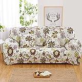 BINGMAX Ausziehbare Sofa Cover 1 2 3 4 Sitzer mit Armlehnen Clic Clac Winkel Anti Skid Floral Printed Home Dekoration Wohnzimmer
