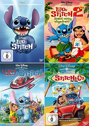 Lilo & Stitch Collection | Lilo & Stitch 1 + 2 + Leroy & Stitch + Stitch & Co. - Der Film (4-DVD) 101 Dalmatiner Disney Dvd