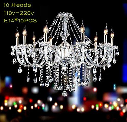 Gowe 10armi Deluxe candela E14lampadario di cristallo ristorante lampadario lampade