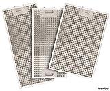 SILVERLINE MFF12-E-4 Edelstahl-Metallfettfilter, 12-lagig, für Slim Deluxe Wandhaube/Dunstabzugshaubenzubehör/Filter