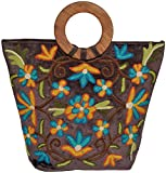 Exotic India Ari-Embroidered Handbag fro...