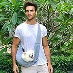 Buyger Reversible Pet Sling Carrier Hand free Puppy Cat Carrier Single Shoulder Bag (Grey) 14