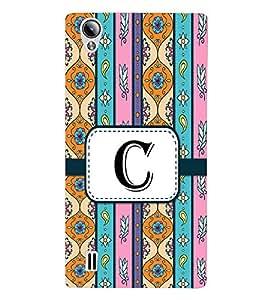 Fiobs Designer Back Case Cover for Vivo Y15S :: Vivo Y15 (Floral Pattern Design Alphabet C)