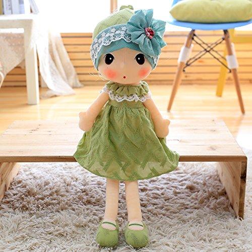 VERCART Puppe Tuch Doll Little Stuffed Spielzeug Interaktive Kinder Girl Junge Lernspielzeug Geburtstag Geschenk Grün 20cm