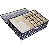 Yellow Weaves™ Undergarments Organizer / Foldable Storage Box with Lid for Drawers