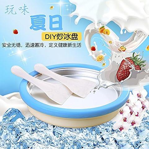 Sorbetière,Mini Fry de qualité alimentaire, Machine à glace yaourt maison, bricolage Enfants Machine à frire Ice Cream
