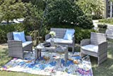 HTI-Living Terrassenmöbel Zypern Loungemöbel Gartenmöbel Garnitur