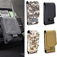 UxradG Bolsa de nailon para teléfono al aire libre. Bolsa de cintura multiusos, práctica y compacta, para teléfono móvil y otras pequeñas herramientas (tamaño pequeño), negro, 5