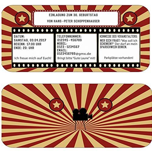 Kinokarte Geburtstag Party Feier Kindergeburtstag ()