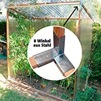 Winkel-Set, 8 Stück, aus feuerverzinktem Stahl