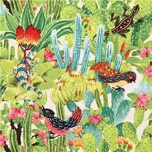Tissu Los Cabos par Elizabeth's Studio avec des cactus verts, des plantes