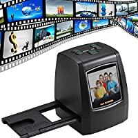 Pidien 14 Megapixel High Resolution Film & Slide Scanner, Slide Viewer with 2.4 Inch TFT LCD and Convert the B&W, Negative Film and Slide to Digital JPEG for SD Card, Slide Mounts Feeder Included, No Computer/Software Needed