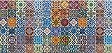 Artland Qualität I Alu Küchenrückwand Spritzschutz Küche 120 x 56 cm Abstrakte Motive Muster Foto Bunt F1RO Gemusterte Keramikfliesen