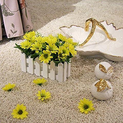 Decorate fiori fiori artificiali fiori di emulazione idilliaca campagna fresca di recinzione Siu Chun Ju-pack soggiorno, decorazioni floreali di fiori di seta, giallo 16*20cm