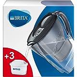 BRITA Marella koelkast waterfilterkan voor vermindering van chloor, kalk en onzuiverheden, Inclusief 3 x MAXTRA+ filterpatron