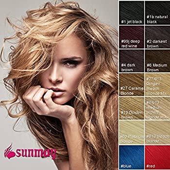 Sunmay 100 real human hair full head clip in remy hair extensions sunmay 100 real human hair full head clip in remy hair extensions pmusecretfo Gallery