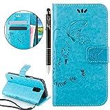 SainCat Ledertasche Brieftasche im BookStyle PU Leder Hülle Wallet Case Folio Schutzhülle Bumper Handytasche Flip Cover Etui Case für Samsung Galaxy S5 Mini