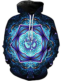 Crazycatz Men Women Unisex Fashion Hoodies Long Sleeves Sweatshirts Mandala Pattern