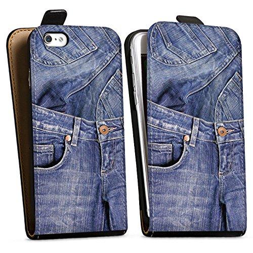 Apple iPhone X Silikon Hülle Case Schutzhülle Jeans Mode Blau Downflip Tasche schwarz