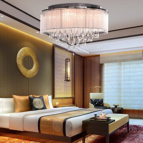 Cristallo moderna Luce di soffitto a Cilindro cromatica con goccia