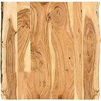 vidaXL Massivholz Tischplatte Baumkante Massivholzplatte Akazie 60x(50-60) x2,5cm