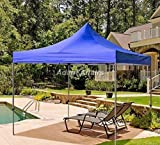 Invezo Impression Heavy Duty Portable Foldable Iron Reusable Canopy/Gazebo Tent (10x10ft/3x3m, Blue)