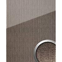 Wandpaneel Glas Optik WallFace 20219 ALIGNED Silver AR+ Wandverkleidung  Glatt In Hochglanz Optik Spiegelnd