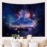 HYRL Tapestry Tapisserie Étoilée Tenture Murale Impression 3D Tapisserie De La Voie Lactée Voie Lactée Tapisserie Murale De Nuit pour Dortoir Salon Chambre,A,51In×60In