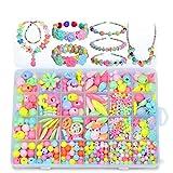 KINGDUO Pop-Arty DIY Beads Girl Halskette Armband Schmuckset mit Box Snap-Together Pop Jigsaw Puzzle Toy Gift