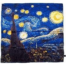 c5132a4a034c Prettystern - 90cm foulard de soie pure soie Impressionnisme Art Print  peinture tissu - van Gogh