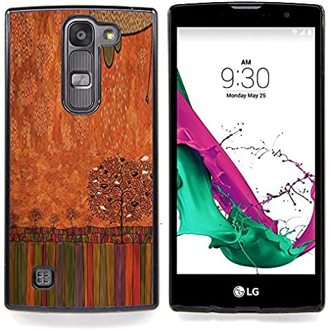 For LG G4c Curve H522Y ( G4 MINI , NOT FOR LG G4 ) Case , Pastello a olio Albero arte disegno - Design Pattern Duro Staccabile Stile Telefono Cellulare Nuovo Caso Cover Guscio Duro
