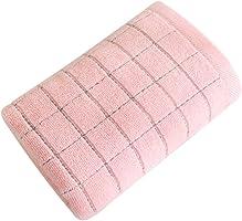 iodvfs Fashion Grid Print Cotton Towel Soft Face Towel Kitchen Clean Wash Cloth