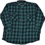 Taglie Grandi! Coole-Fun-T-Shirts - Camicia in Flanella Stile Falegname, Motivo a Quadri, Taglia 3XL - 12XL, Colore: Verde/Ne