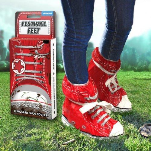 Festival Feet Schuhe - Schuhüberzieher in rot (Gift-schlamm Spielzeug)