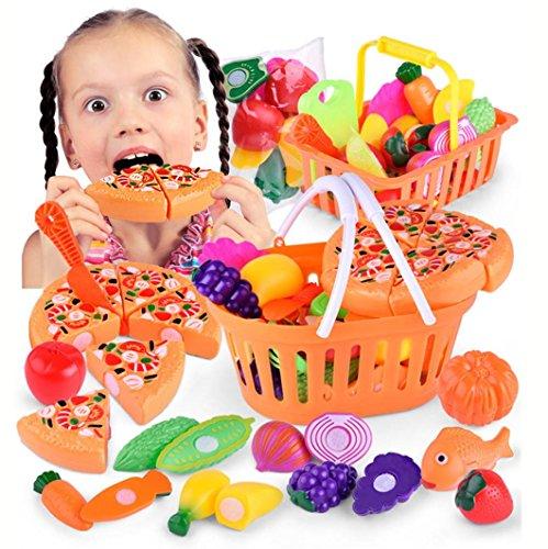Juguetes educativos,Internet Niños Fingir Juego De Roles Juego De Corte Juguete Del Regalo Cocina Alimento Vegetal De la Fruta Juguete (Como se muestra, A)