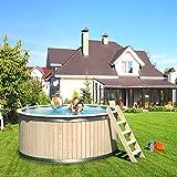 ISIDOR CASPER Holzpool Schwimmbecken Swimmingpool Rundpool 240x107cm -
