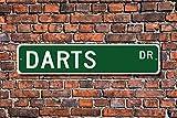 CELYCASY Dart-Schild, Dartpfeile, Geschenk, Darts Spieler, Darts, Liebhaber, Werfen, Sport, Zielsport, personalisierbar, hochwertiges Metallschild